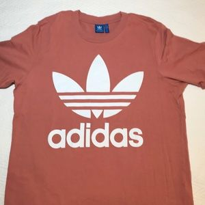 Used Adidas Boxy Tee Pink Salmon Color size Large